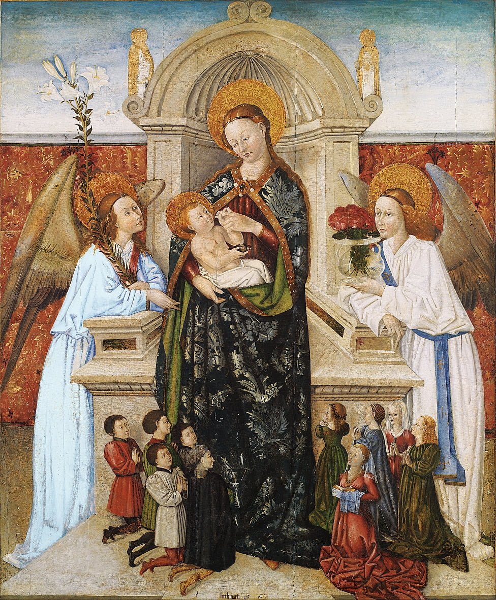 Virgin and Child, Angels and Family of Donors by Berthomeu Baró