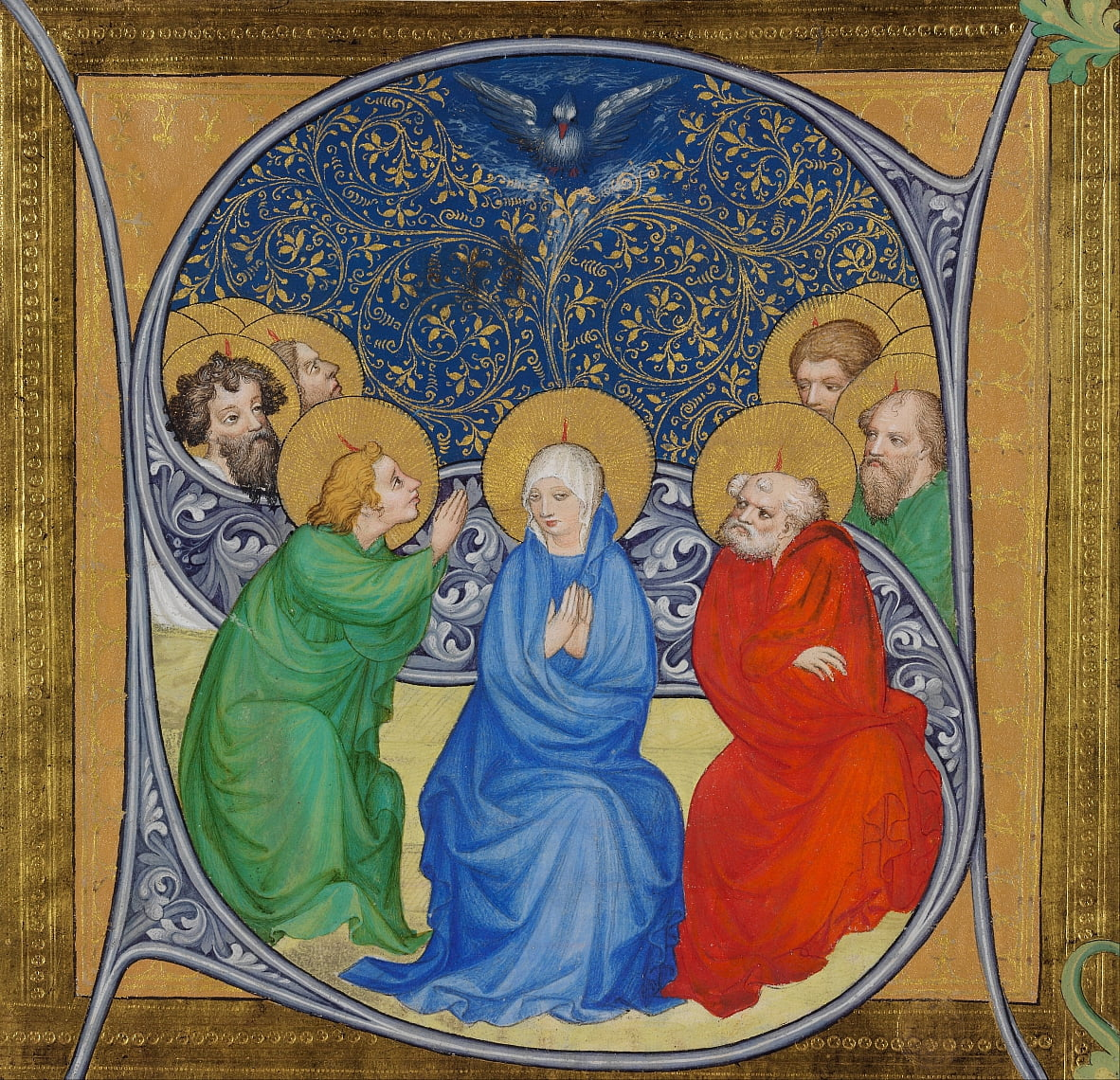 The Pentecost by Bohemian Master