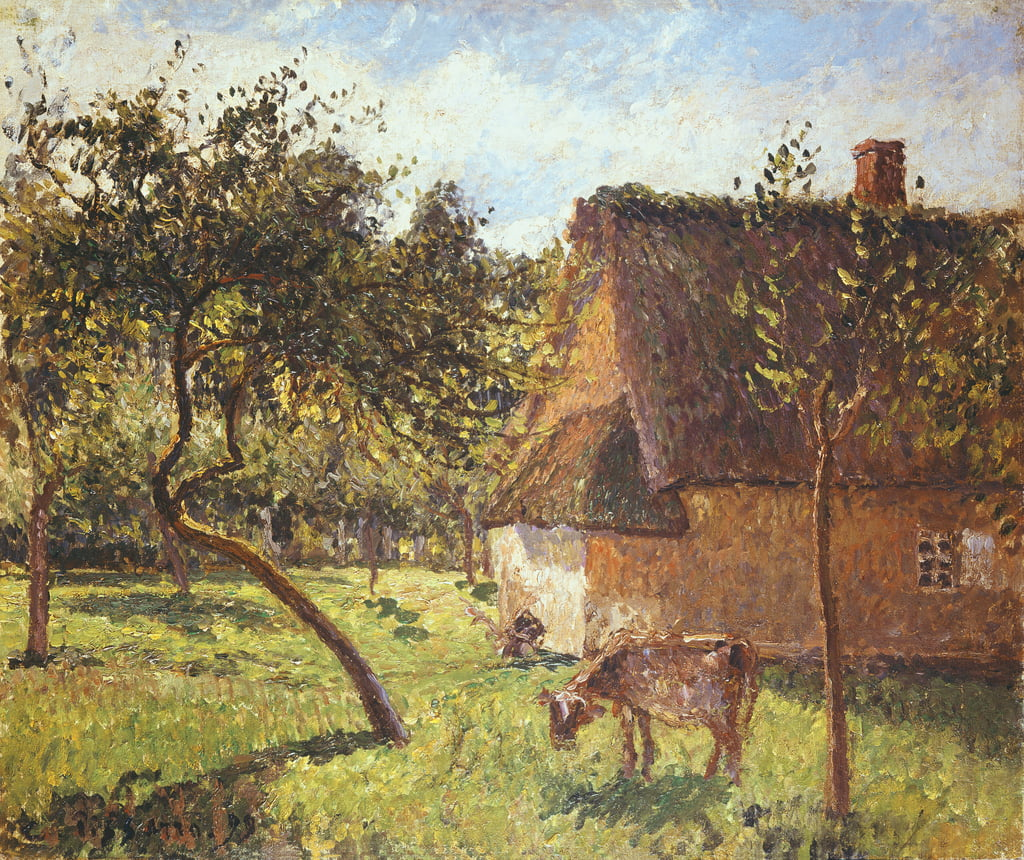 Field at Varengeville, 1899  by Camille Jacob Pissarro