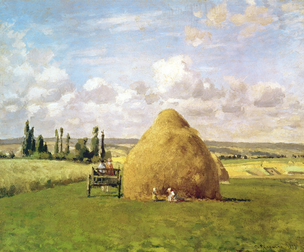 The haystack, Pontoise, 1873 by Camille Jacob Pissarro