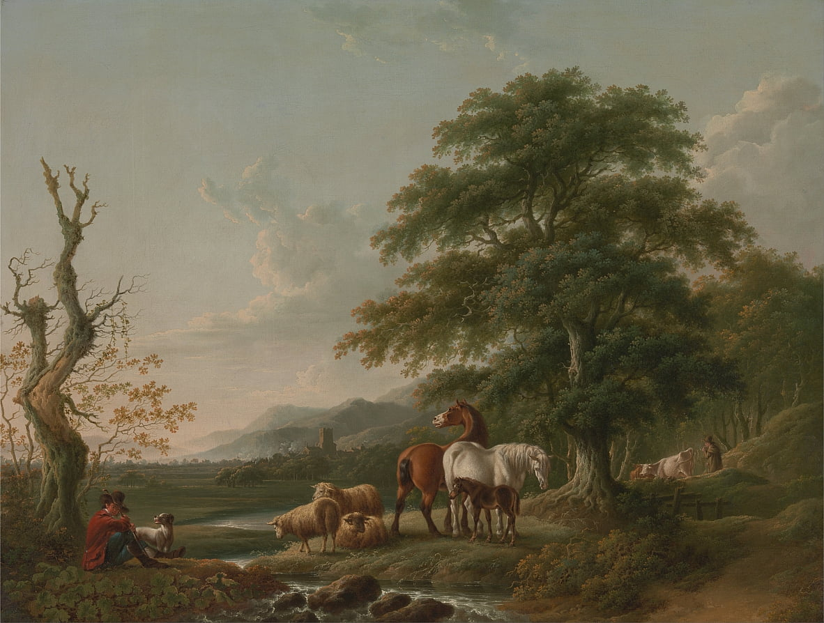 Landscape with a Shepherd by Charles Towne
