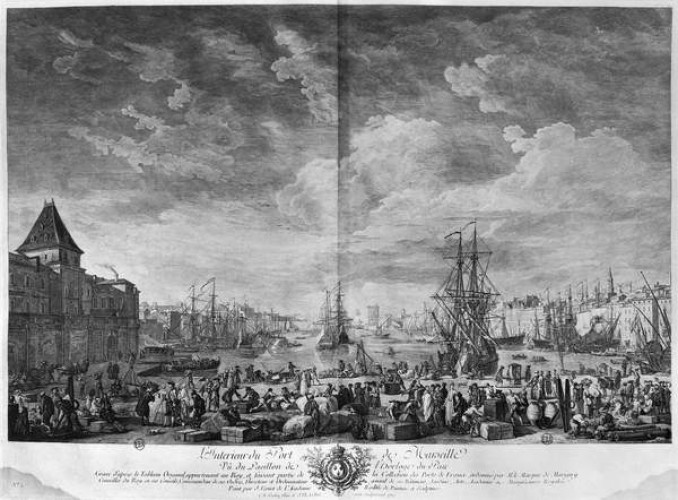 Inner Port of Marseille, seen from the Pavilion of the Horloge du Parc, series of