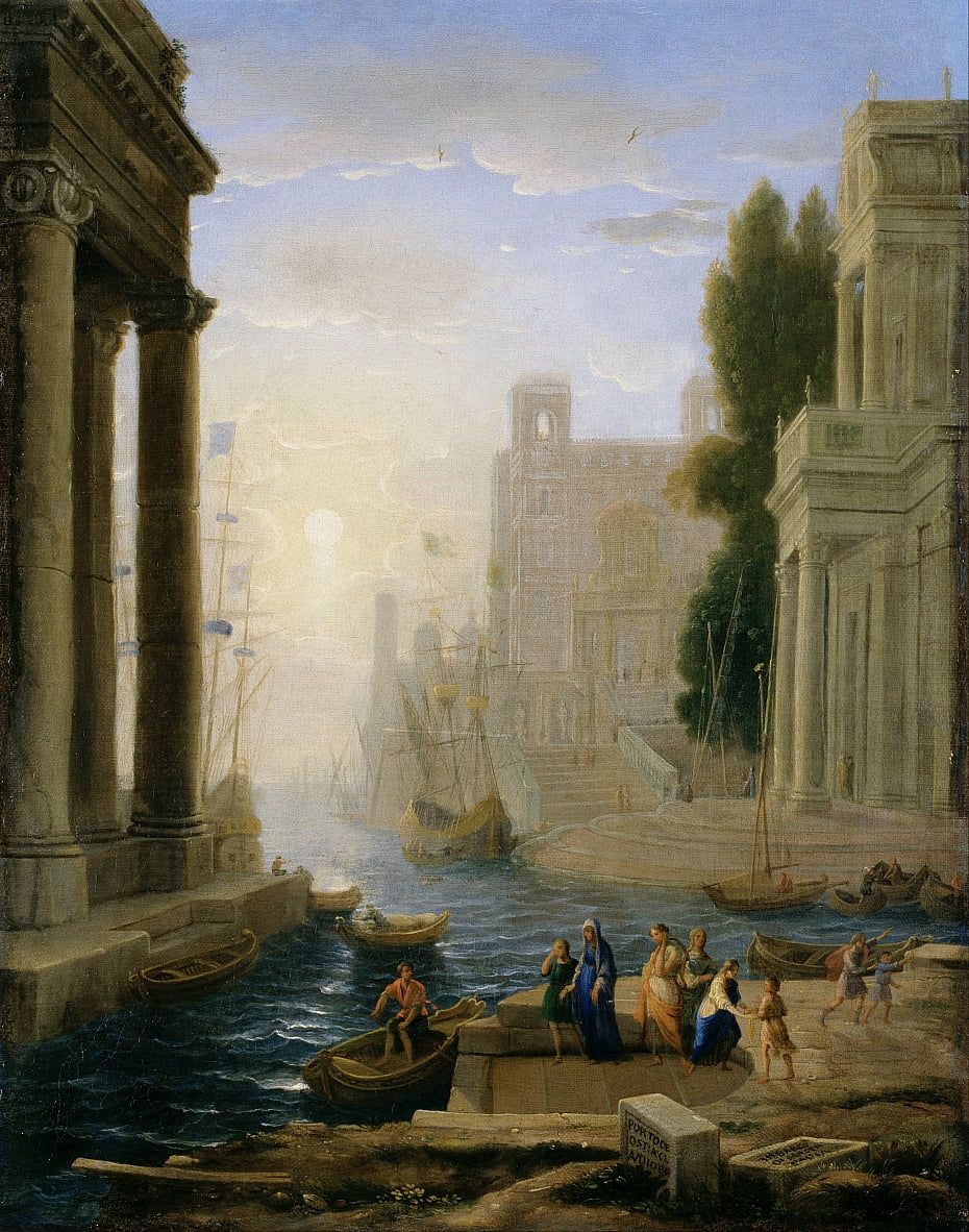 Embarkation of St Paula by Claude Lorrain
