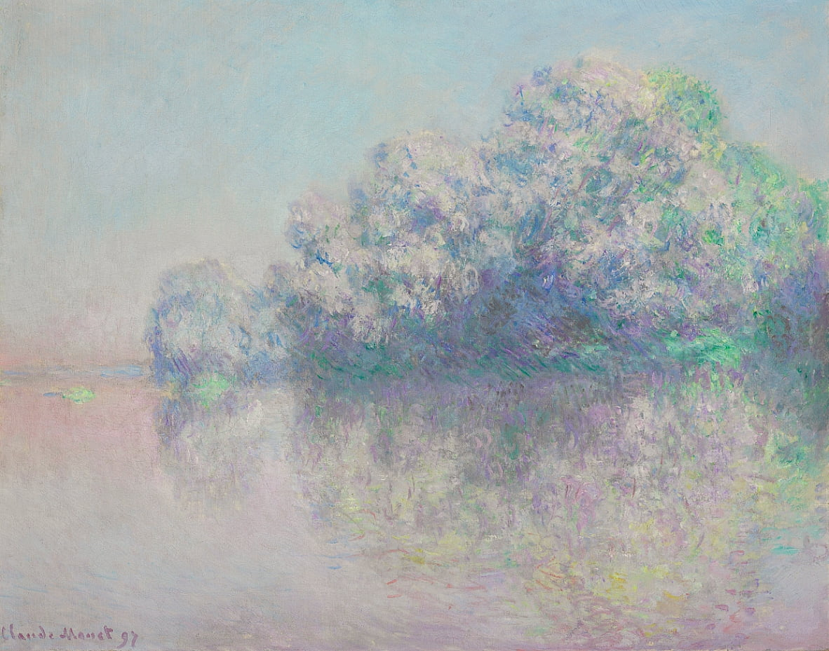 LIle aux Orties by Claude Monet