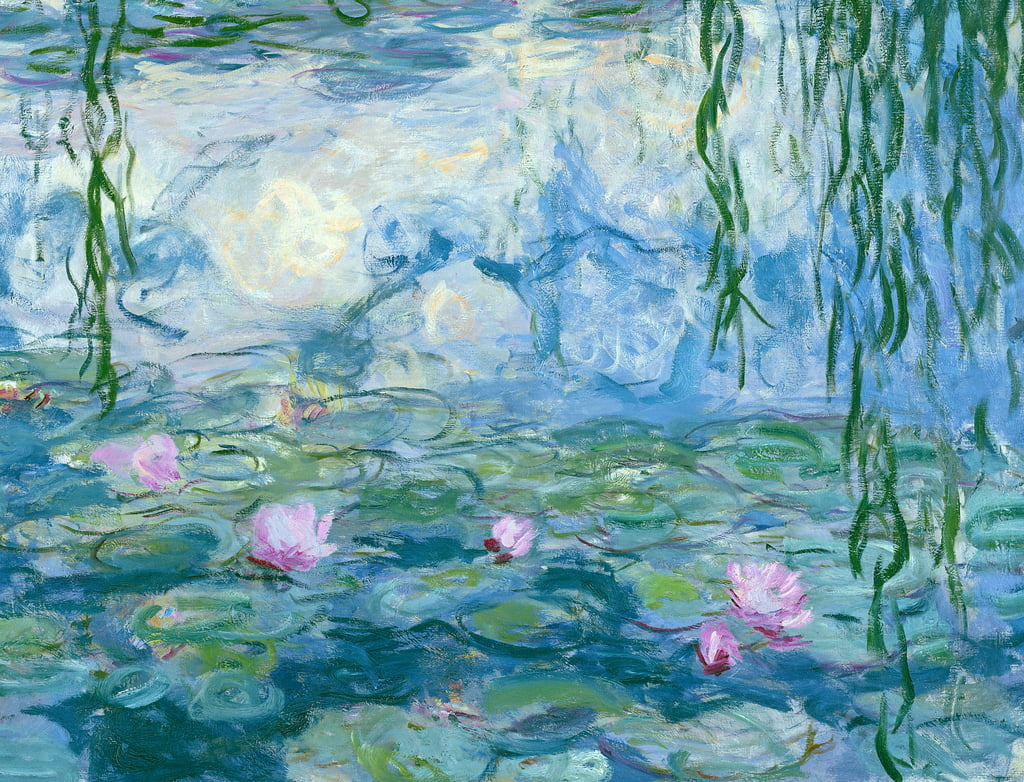 Waterlilies, 1916-19 oil on canvas detail of 161015 by Claude Monet