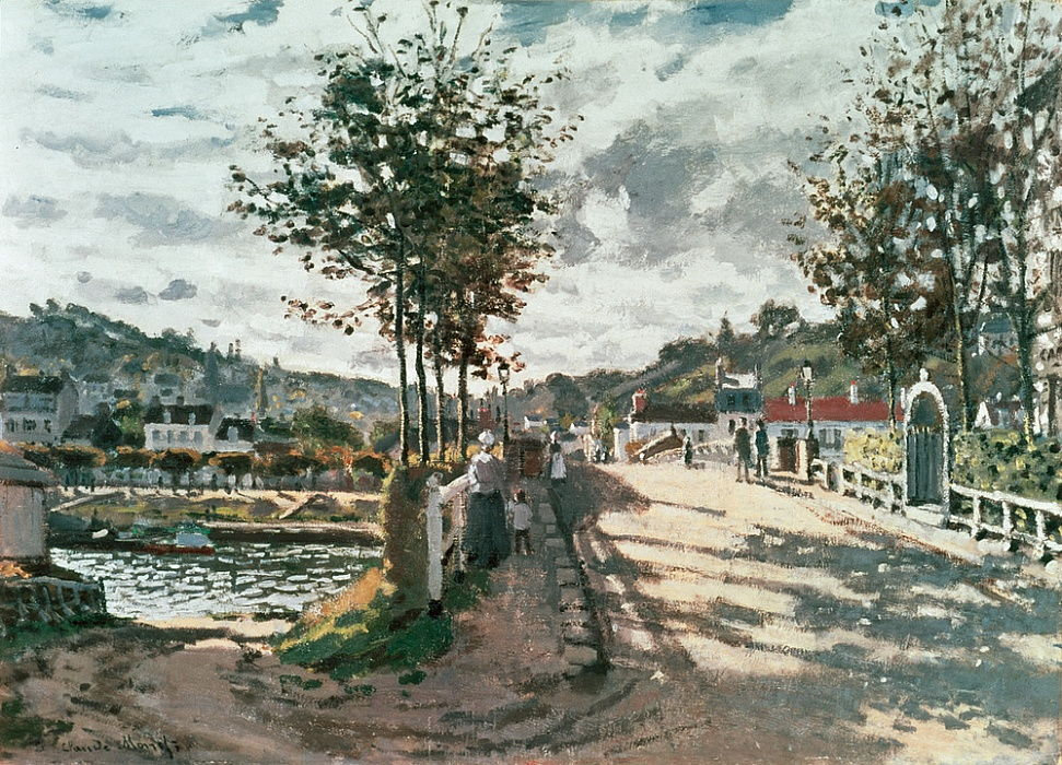 Le Pont de Bougival by Claude Monet