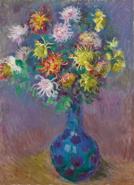 Vase of Chrysanthemums, 1882 by Claude Monet