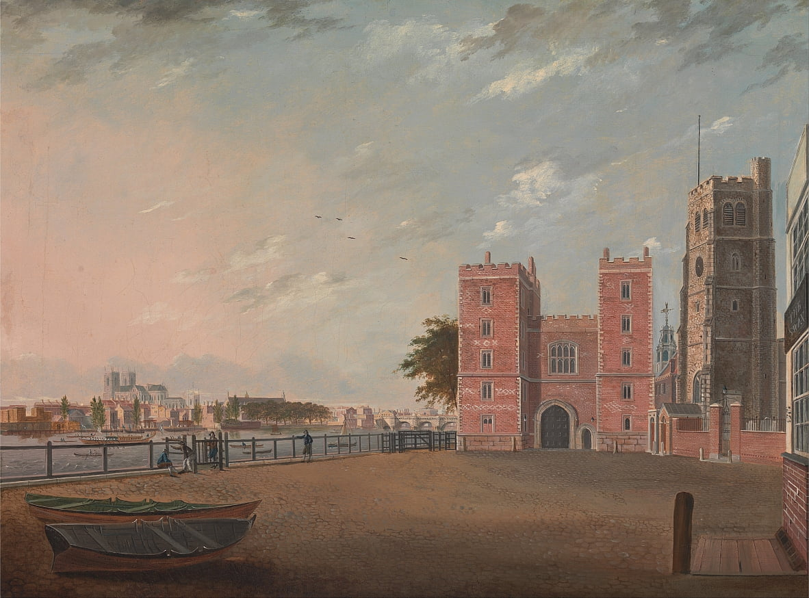 Lambeth Palace from the West by Daniel Turner