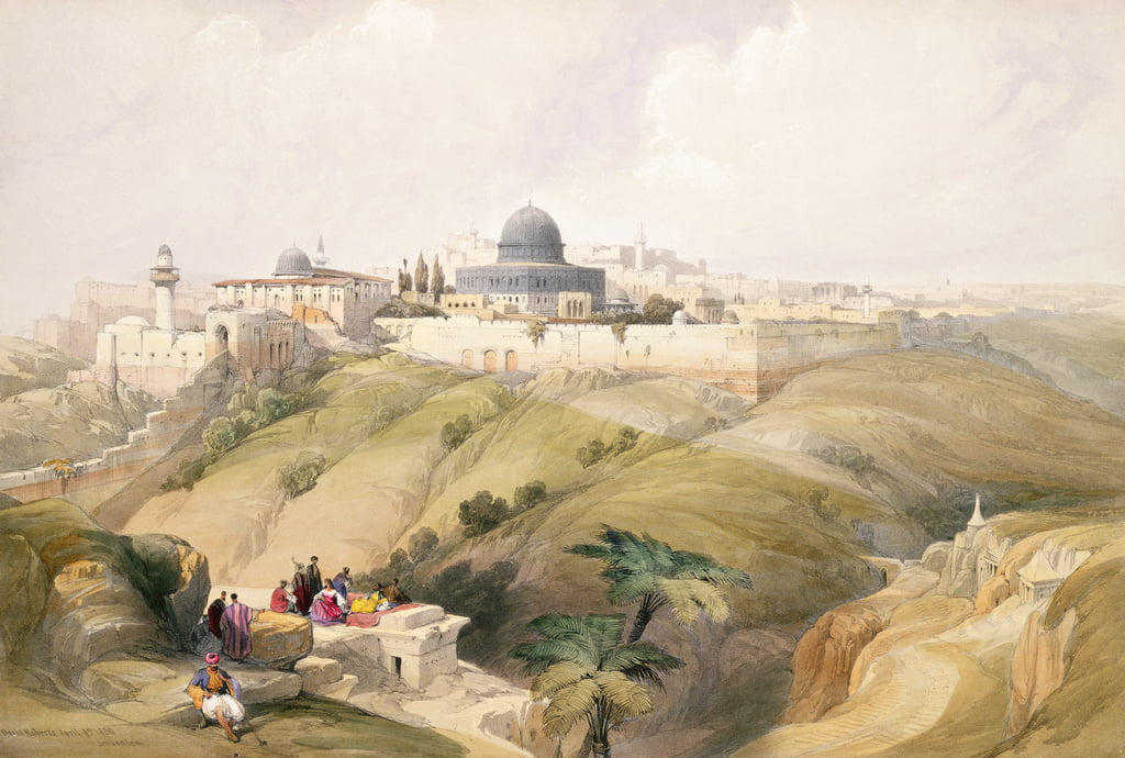 Jerusalem, April 9th 1839, plate 16 from Volume I of