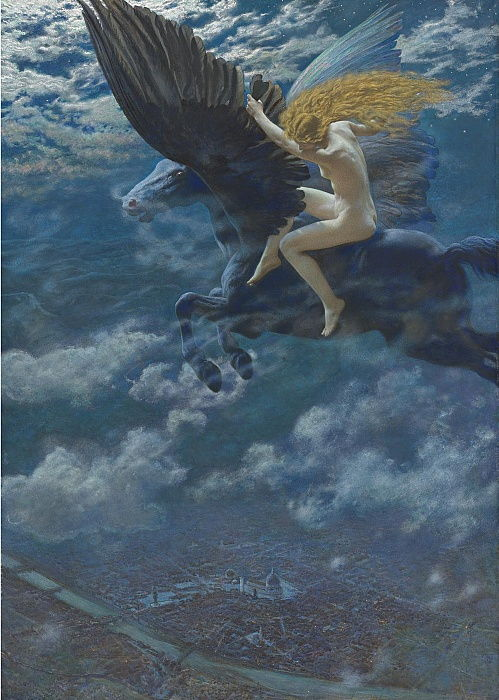 Dream Idyll A Valkyrie, c. 1902 by Edward Robert Hughes