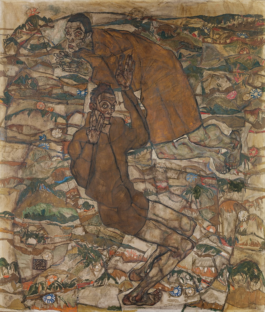 Levitation (The Blind II) by Egon Schiele