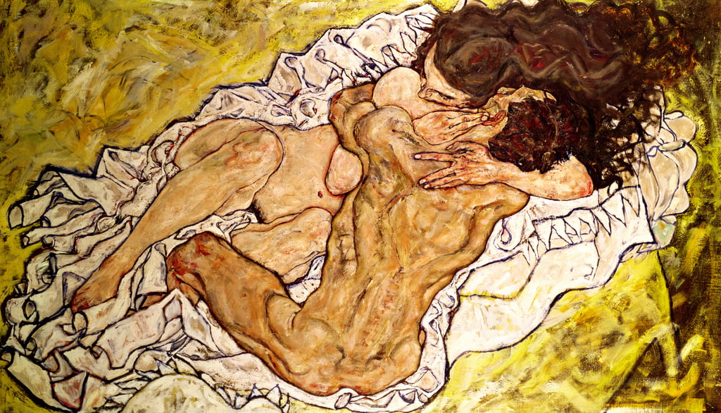 The Embrace, 1917 by Egon Schiele
