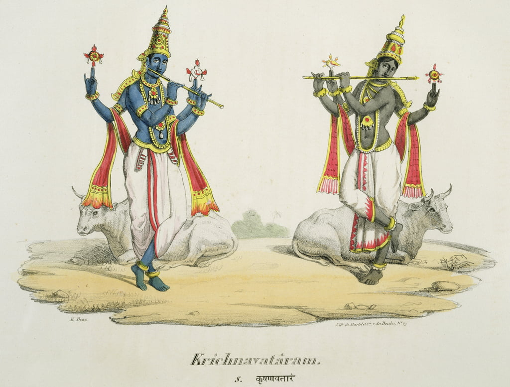 Krishna Venugopala, engraved by de Marlet and du Bouloi  by Emil Beau
