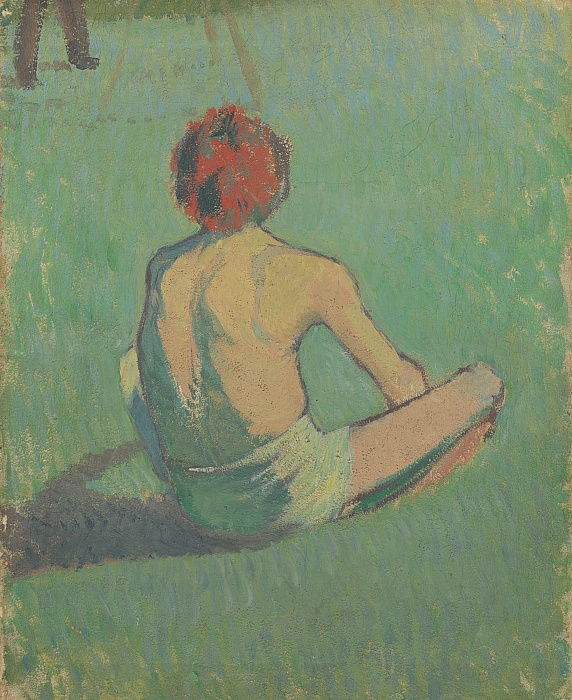 Boy sitting in the grass, 1886 by Emile Bernard