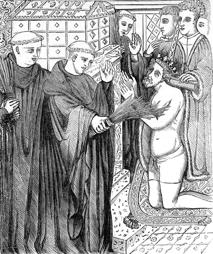 Penance of Henry II, after an engraving in Carter