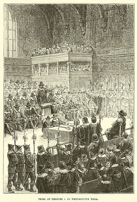 Trial of Charles I in Westminster Hall  by English School