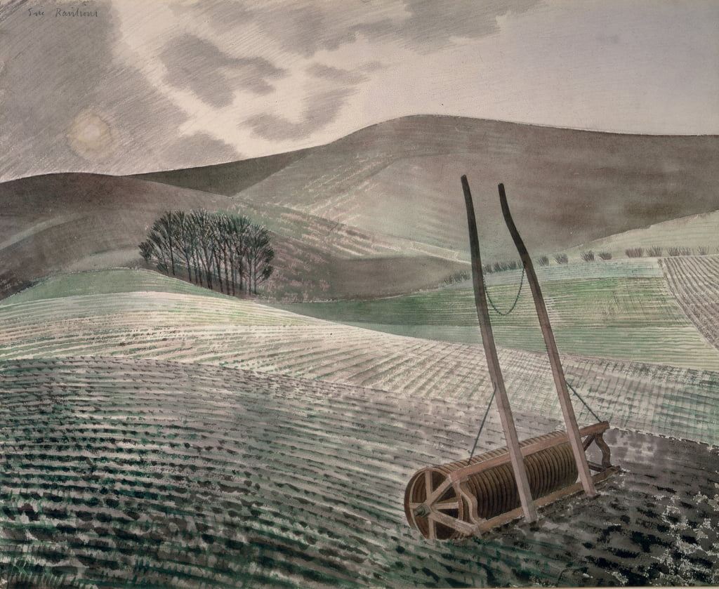 Downs in Winter by Eric Ravilious