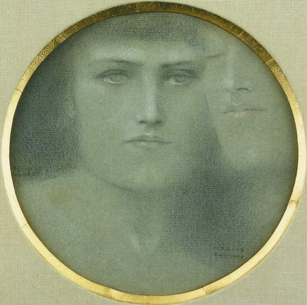 Des Caresses, by Fernand Khnopff