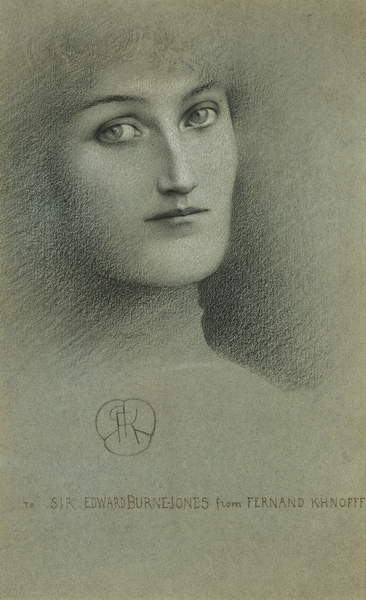 Female Head; Tete de Femme, 1896 by Fernand Khnopff