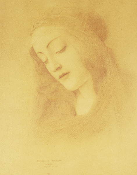 "The Virgin after Botticelli; La Vierge d""Apres Botticelli, 1909 by Fernand Khnopff"