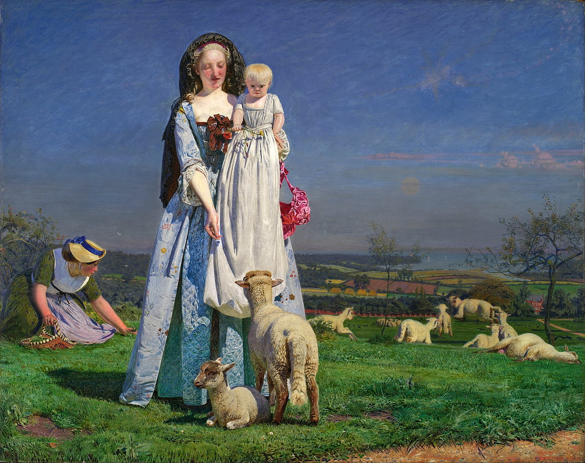 Pretty Baa-Lambs by Ford Madox Brown