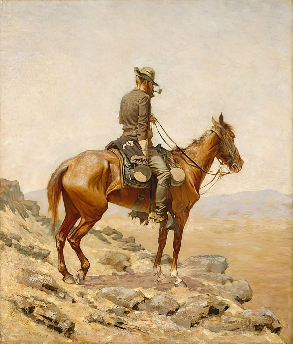 The Lookout, 1887  by Frederic Remington