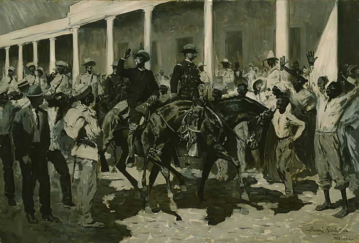 The Return of Gomez to Havana, 1899  by Frederic Remington