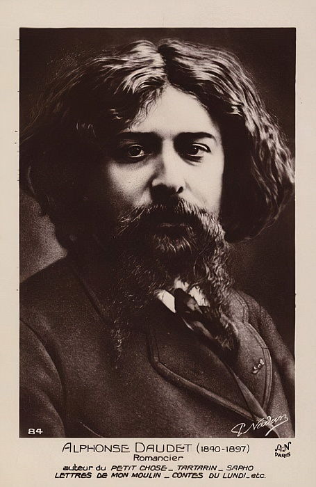 Alphonse Daudet (1840-1897), French novelist  by French Photographer