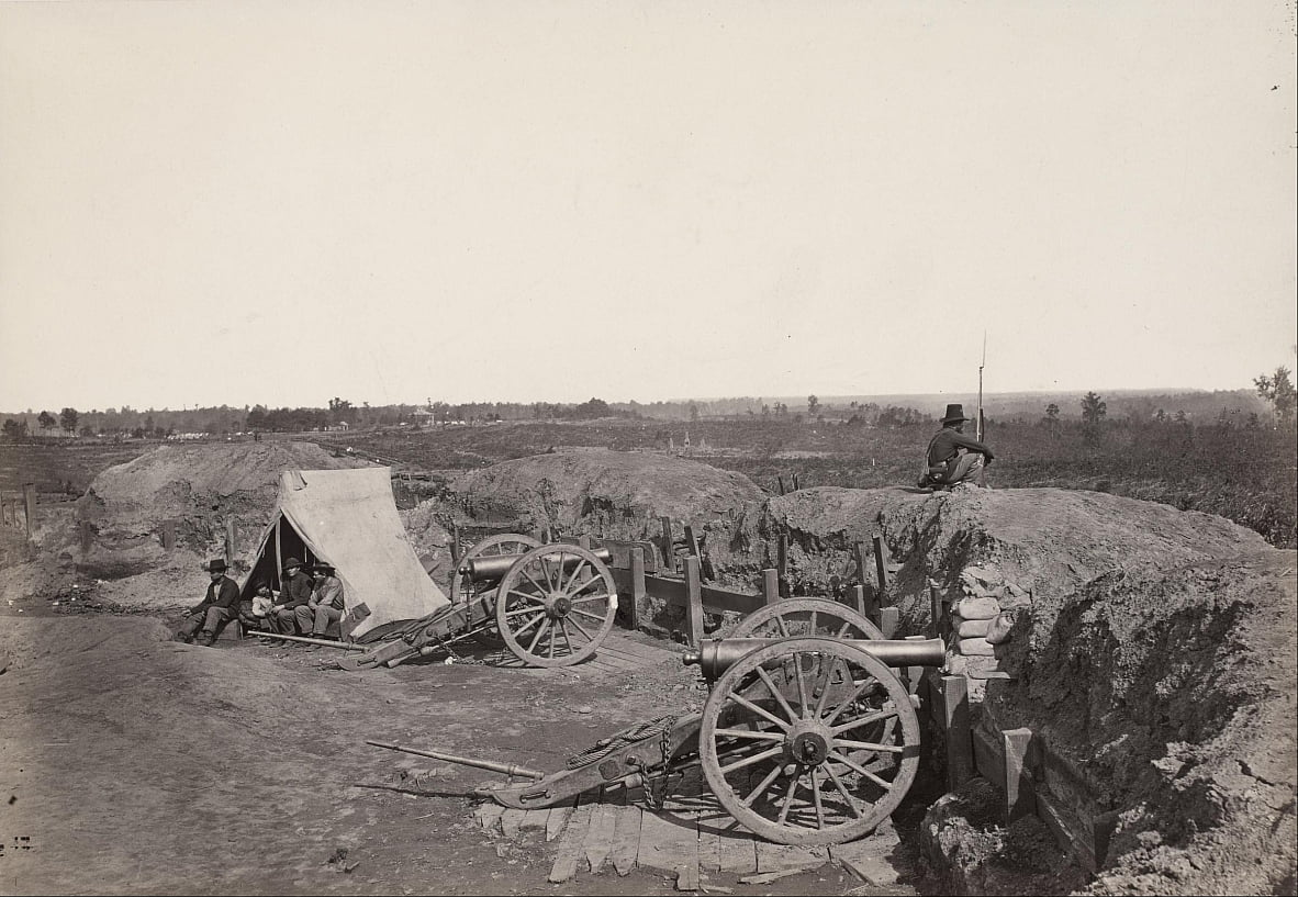 Former Confederate Fortifications in Front of Atlanta by George N. Barnard