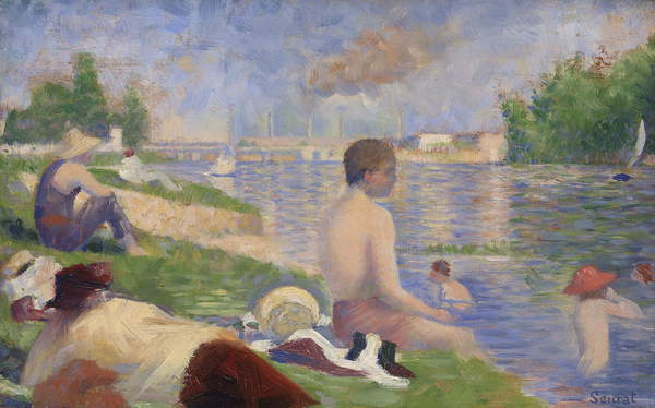 Final Study for Bathers at Asnières, 1883 by Georges Pierre Seurat