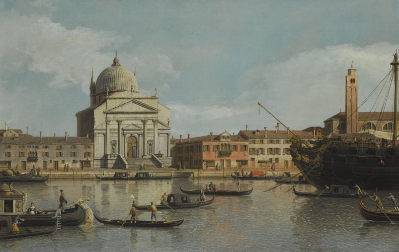 Venice, a view of the Churches of the Redentore and San Giacomo by Giovanni Antonio Canal