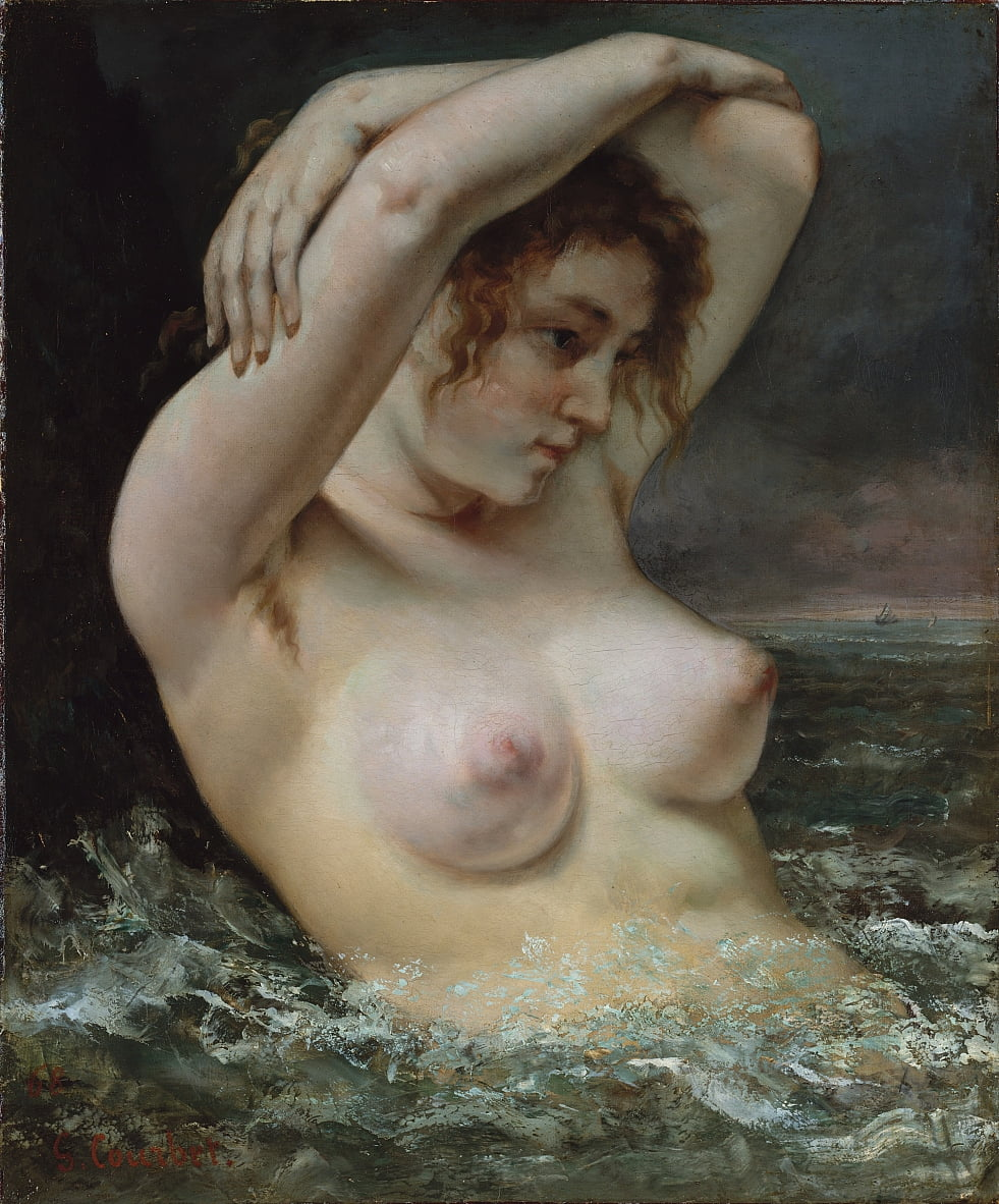 The Woman in the Waves by Gustave Courbet