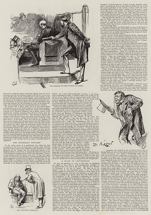 Life in Parliament, Strangers in the House  by Harry Furniss