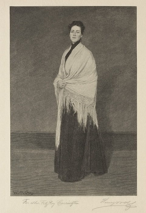 Lady with Shawl.  by Henry Wolf