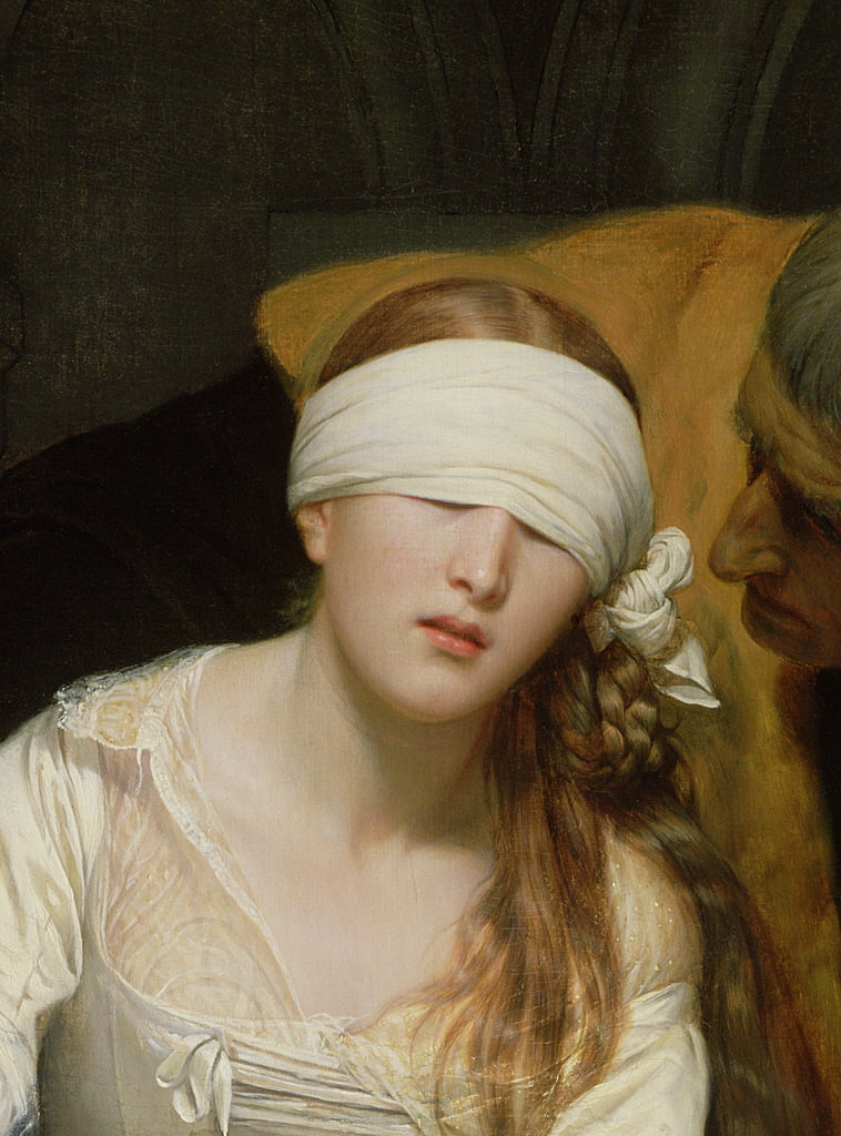The Execution of Lady Jane Grey, 1833  (detail of 72630) by Hippolyte Delaroche