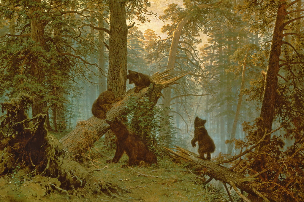 Morning in a Pine Forest, 1889  by Ivan Ivanovich Shishkin
