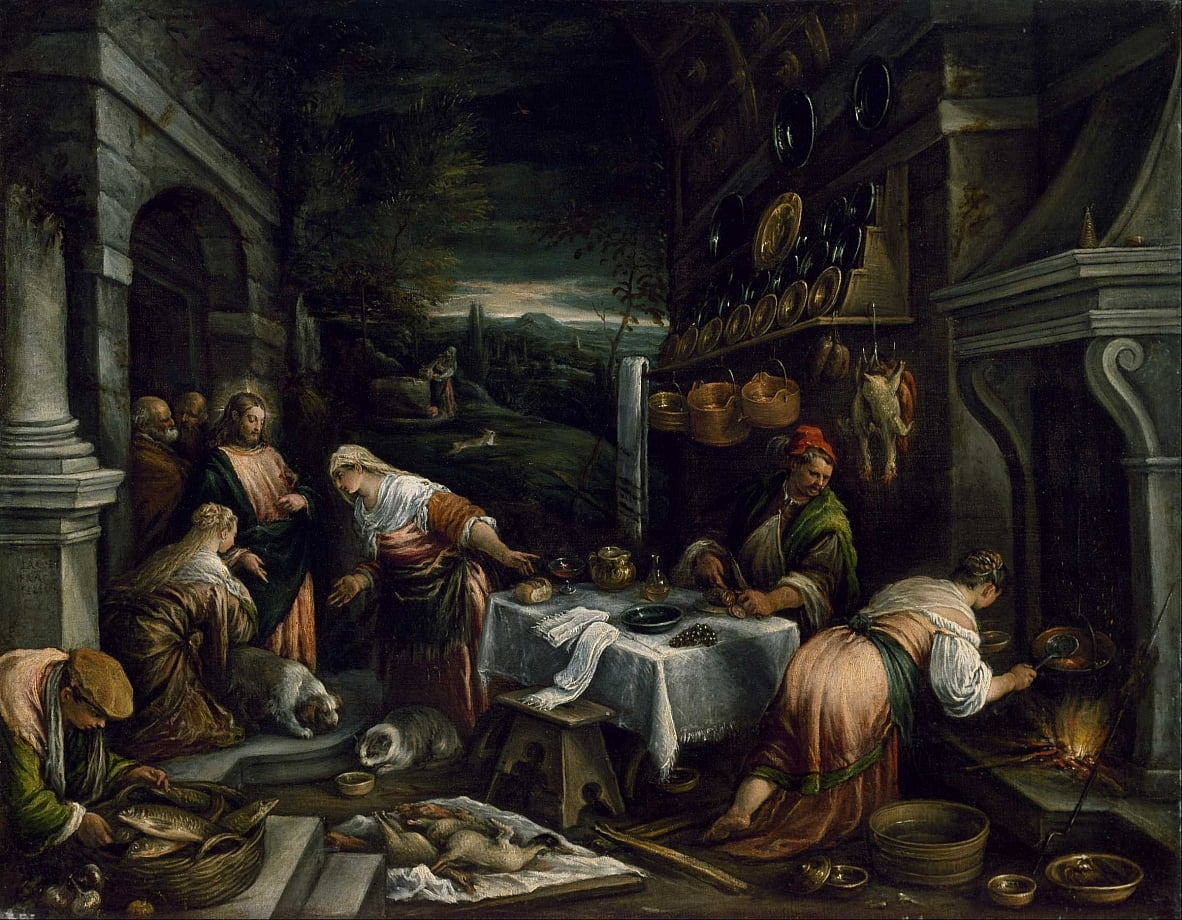 Christ in the House of Mary, Martha, and Lazarus by Jacopo Bassano