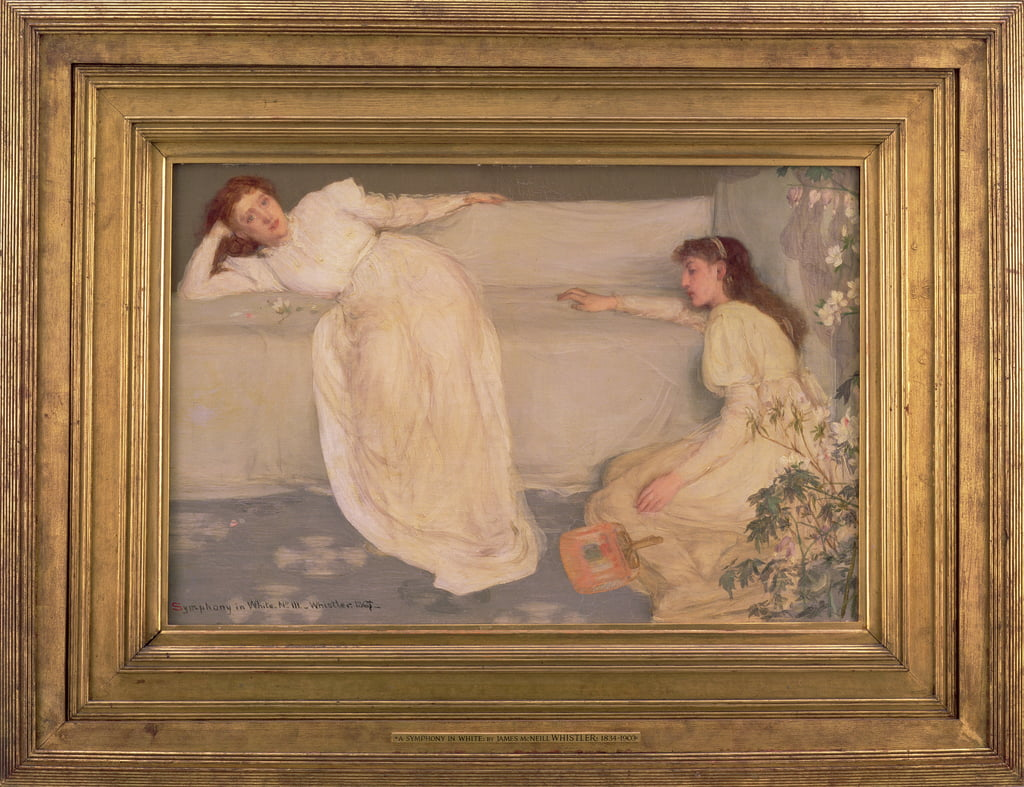 Symphony in White, No. III, 1865-67  (including frame) (see also 88677) by James Abbott McNeill Whistler
