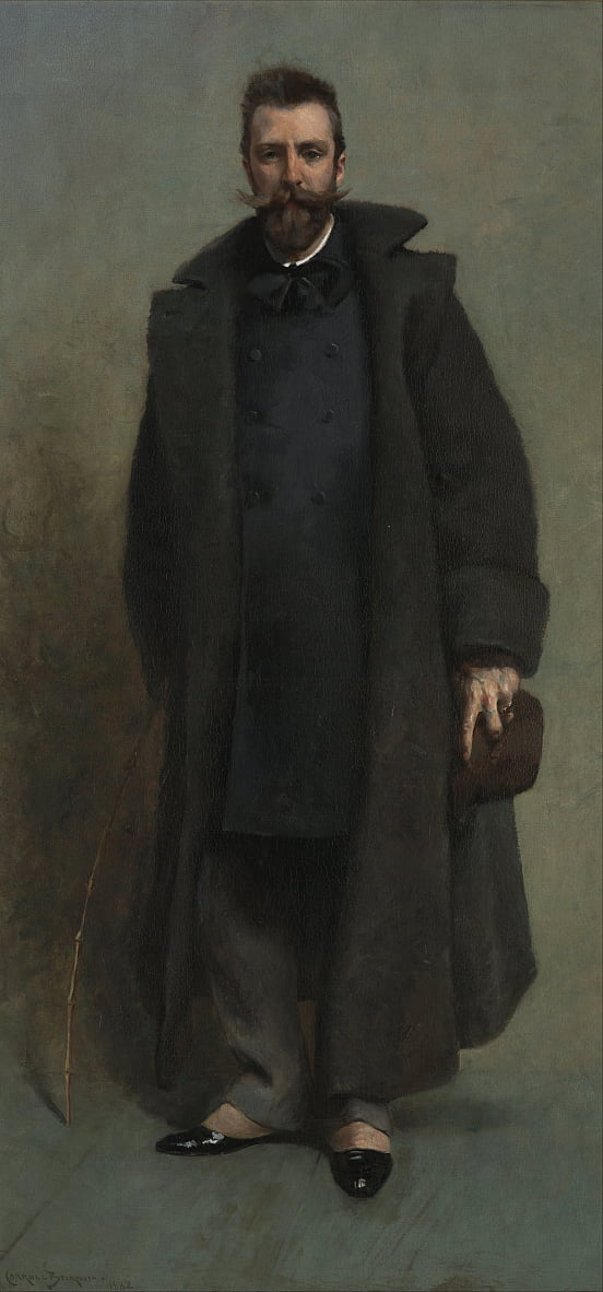 Portrait of William Merritt Chase by James Carroll Beckwith
