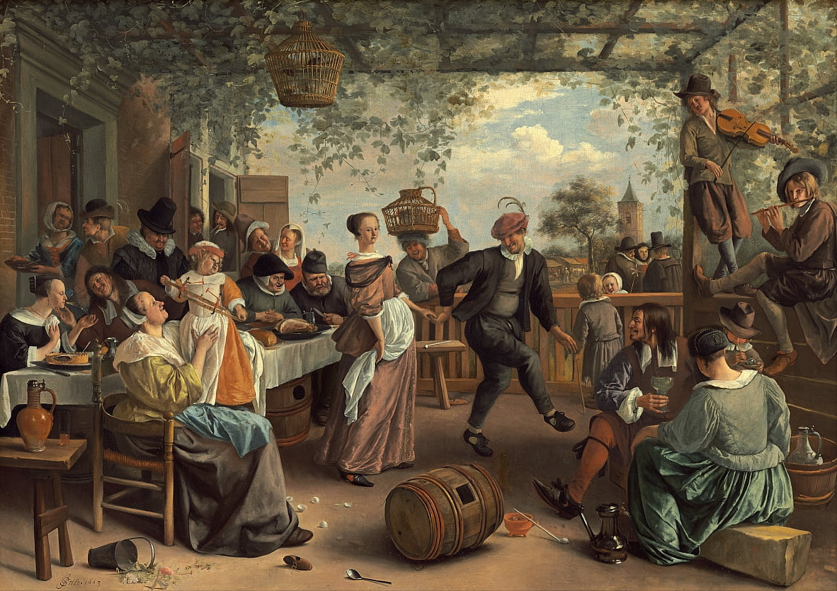 The Dancing Couple by Jan Havickszoon Steen