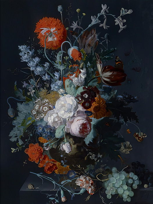 Still Life of Flowers and Fruit, c.1715  by Jan van Huysum