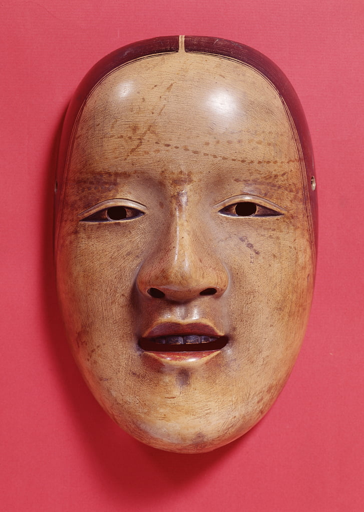No theatre mask by Japanese School