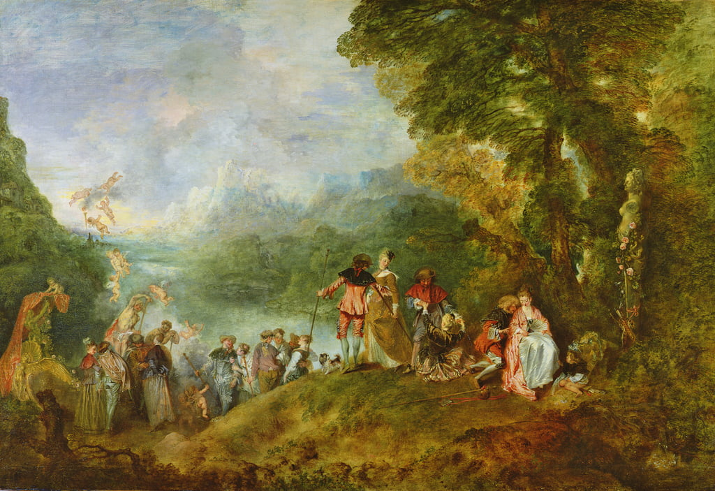 Embarkation for Cythera, 1717  (for detail see 65335) by Jean Antoine Watteau