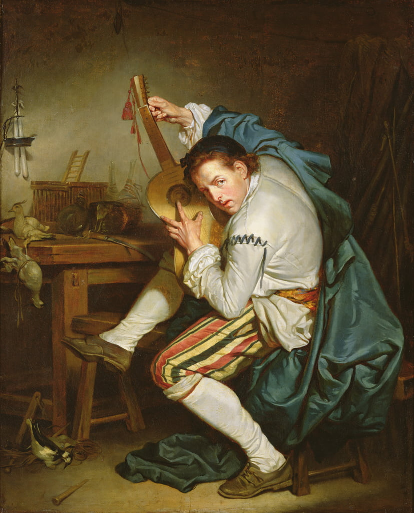 The Guitarist  by Jean Baptiste Greuze