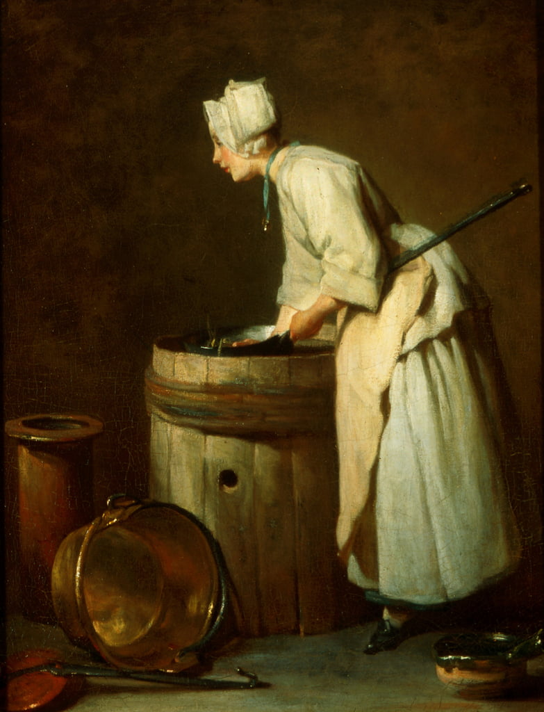 The Scullery Maid, 1738  by Jean Baptiste Simeon Chardin