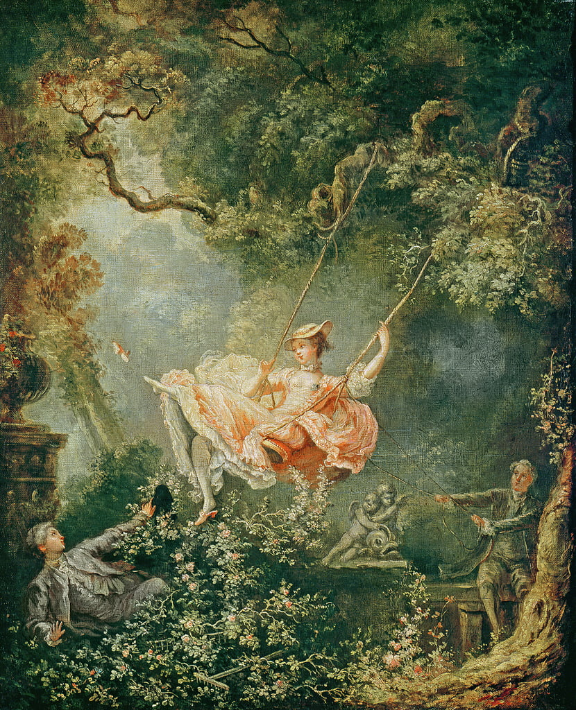 The Swing  by Jean Honore Fragonard