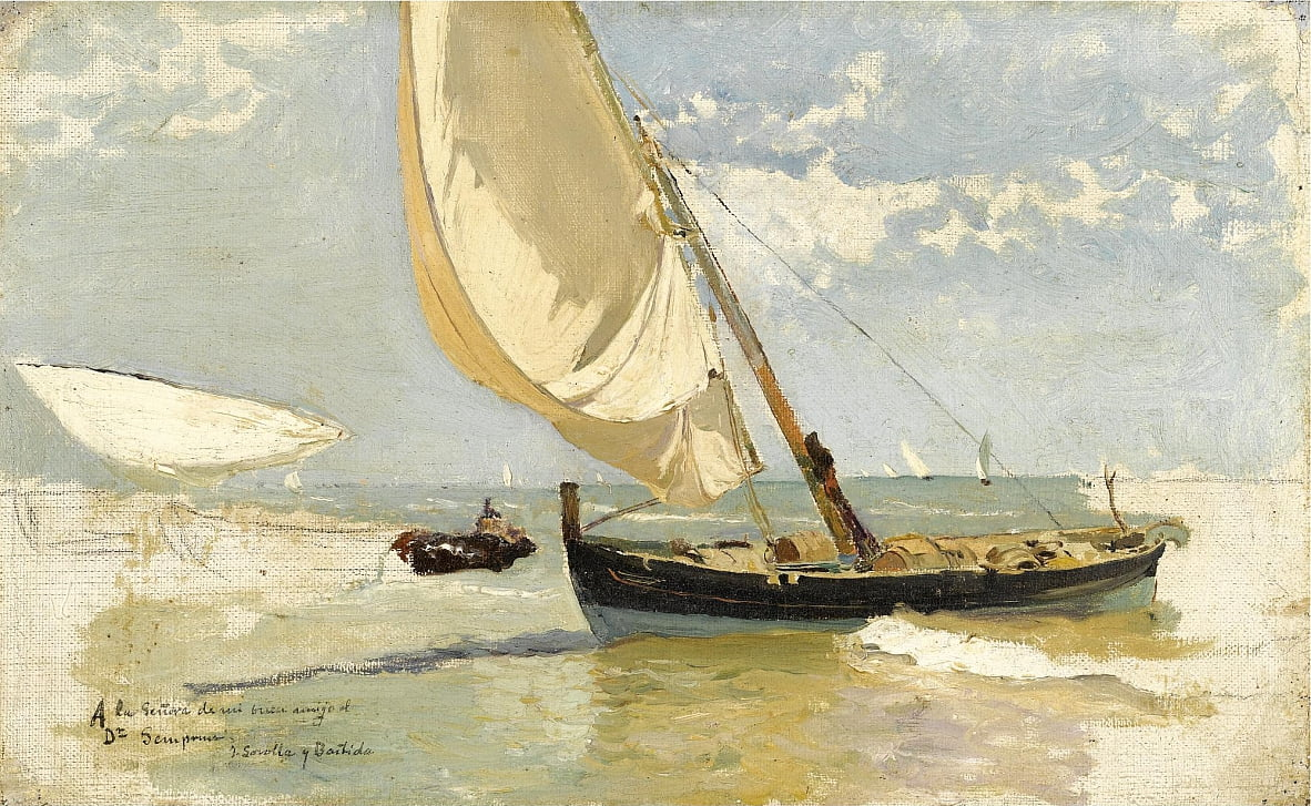 Estudio de Playa  by Joaquín Sorolla