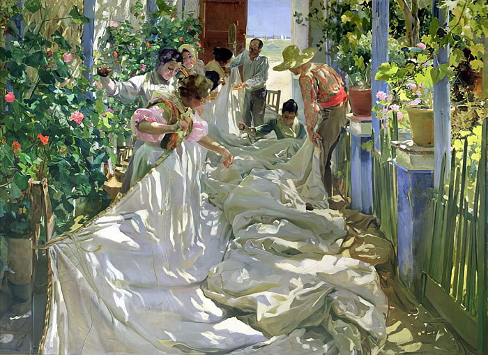 Mending the Sail, 1896  by Joaquín Sorolla