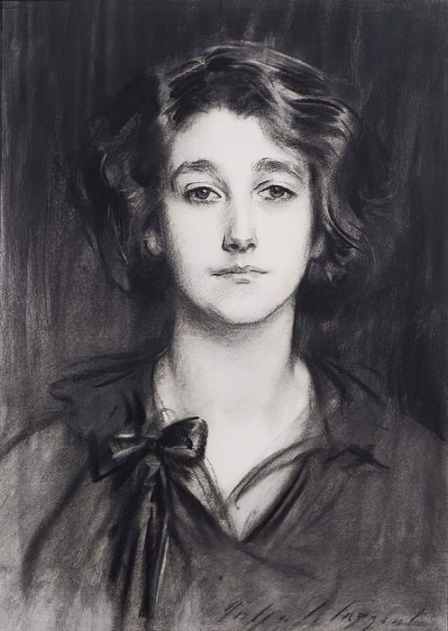 Sybil Sassoon (charcoal on paper) by John Singer Sargent