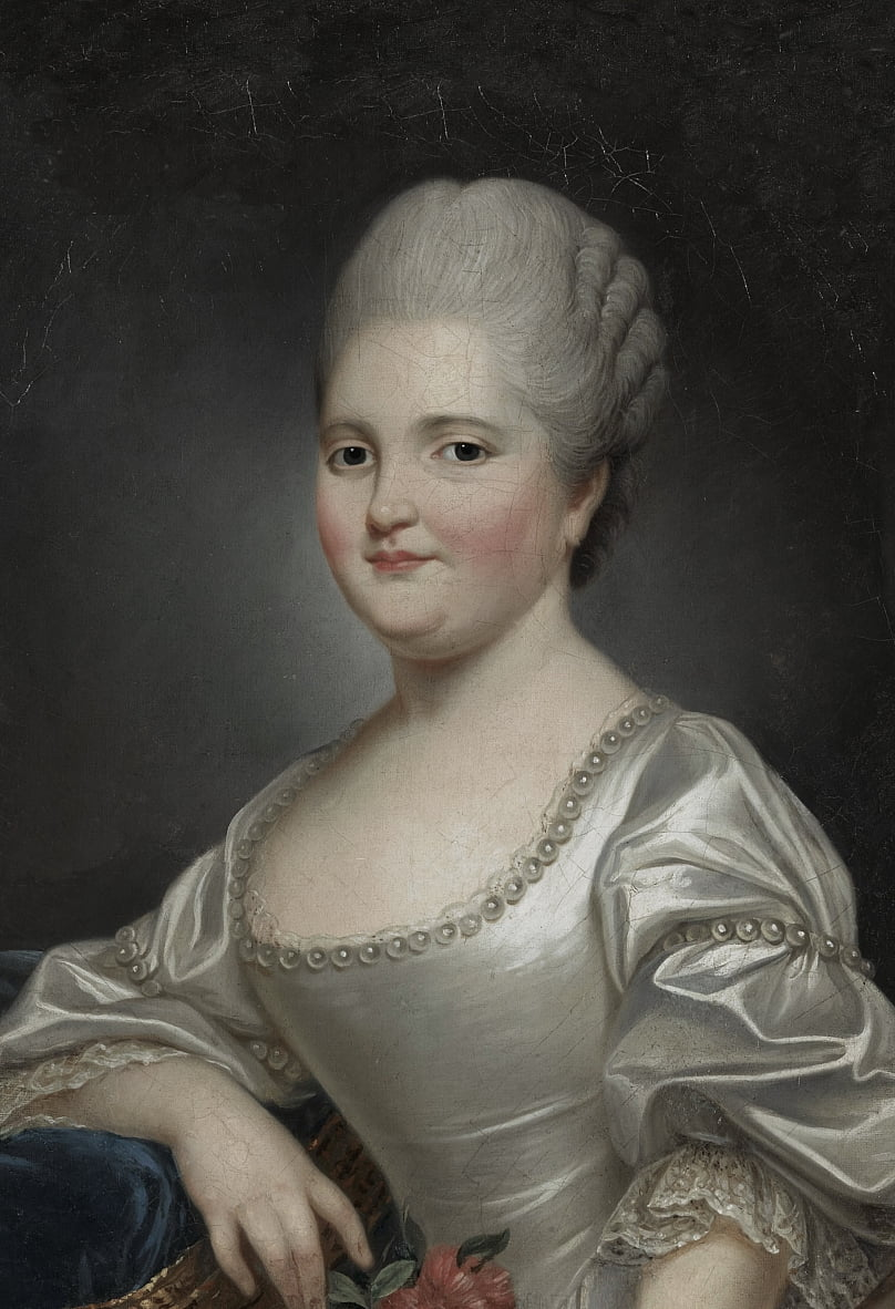 Portrait of Marie Clotilde of France (1759-1802), known as Madame Clotilde, future Queen of Sardinia by Joseph Ducreux